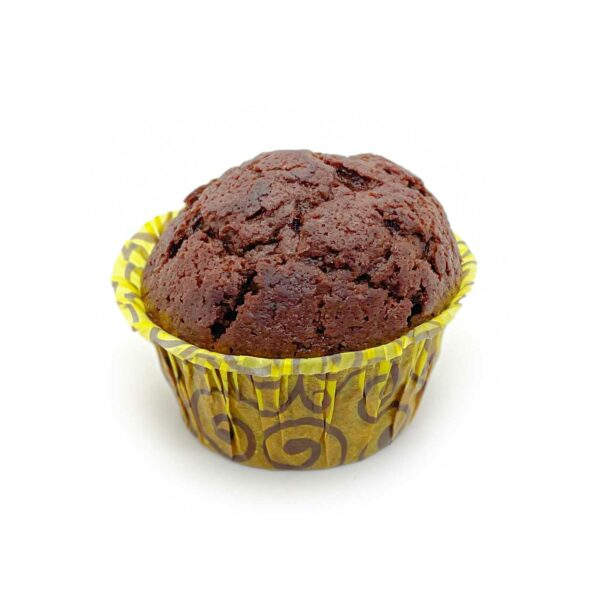 Mjuk, saftig choklad muffin med.