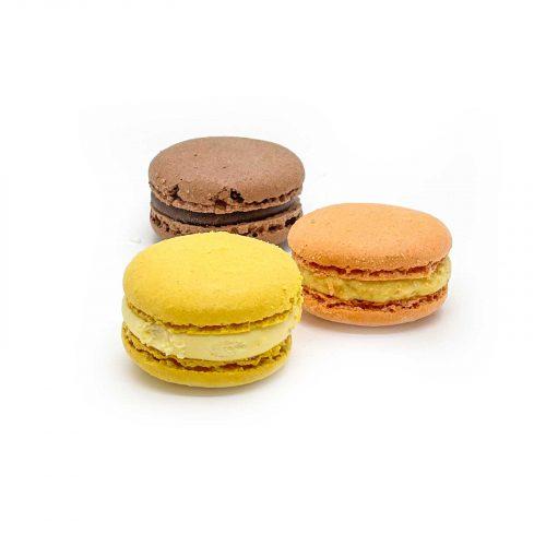 Macarons olika smaker och färger